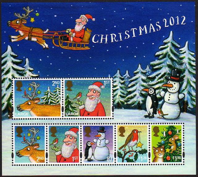 UK Christmas Postage Stamps 2012